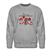 Cute Christmas Gnome & Donkey Sweatshirt - heather gray