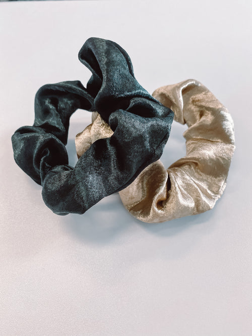 2 Pack Scrunchies - Assorted Colours - Black Mint Clothing