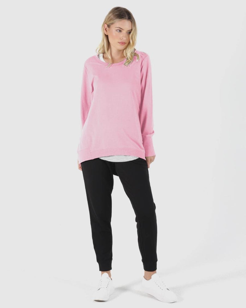Dolly  Sweat - Peony Pink - Betty Basics - Black Mint Clothing
