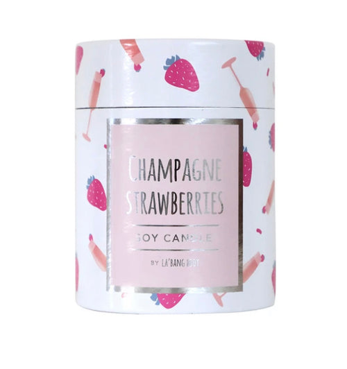 Champagne Strawberries Soy Candle - Black Mint Clothing