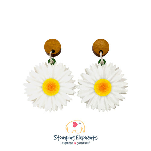 Mister Daisy Earrings - Black Mint Clothing