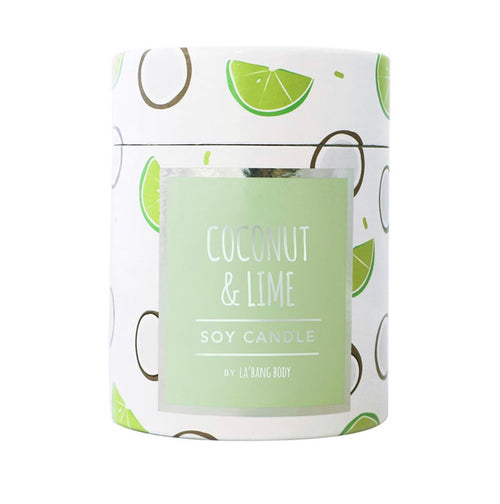 Coconut & Lime Soy Candle - Black Mint Clothing