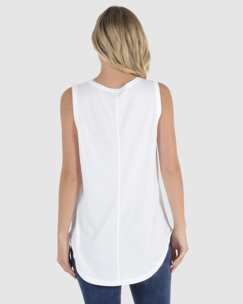 Keira Tank - White - Betty Basics - Black Mint Clothing