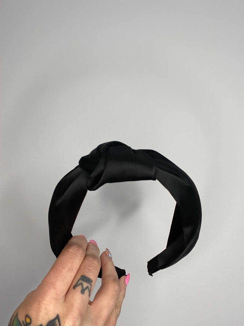 Satin Knot Headband - Assorted Colours - Black Mint Clothing