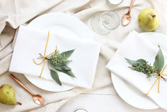 beautiful table setting with napkins
