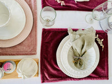 Load image into Gallery viewer, Rose Velvet Placemat
