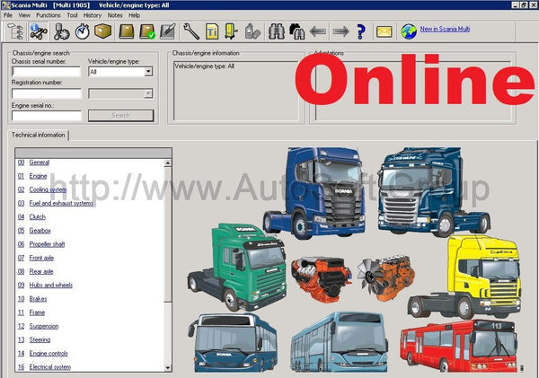Scania Multi 10.2020 Spare Parts & Manuals - Online Server