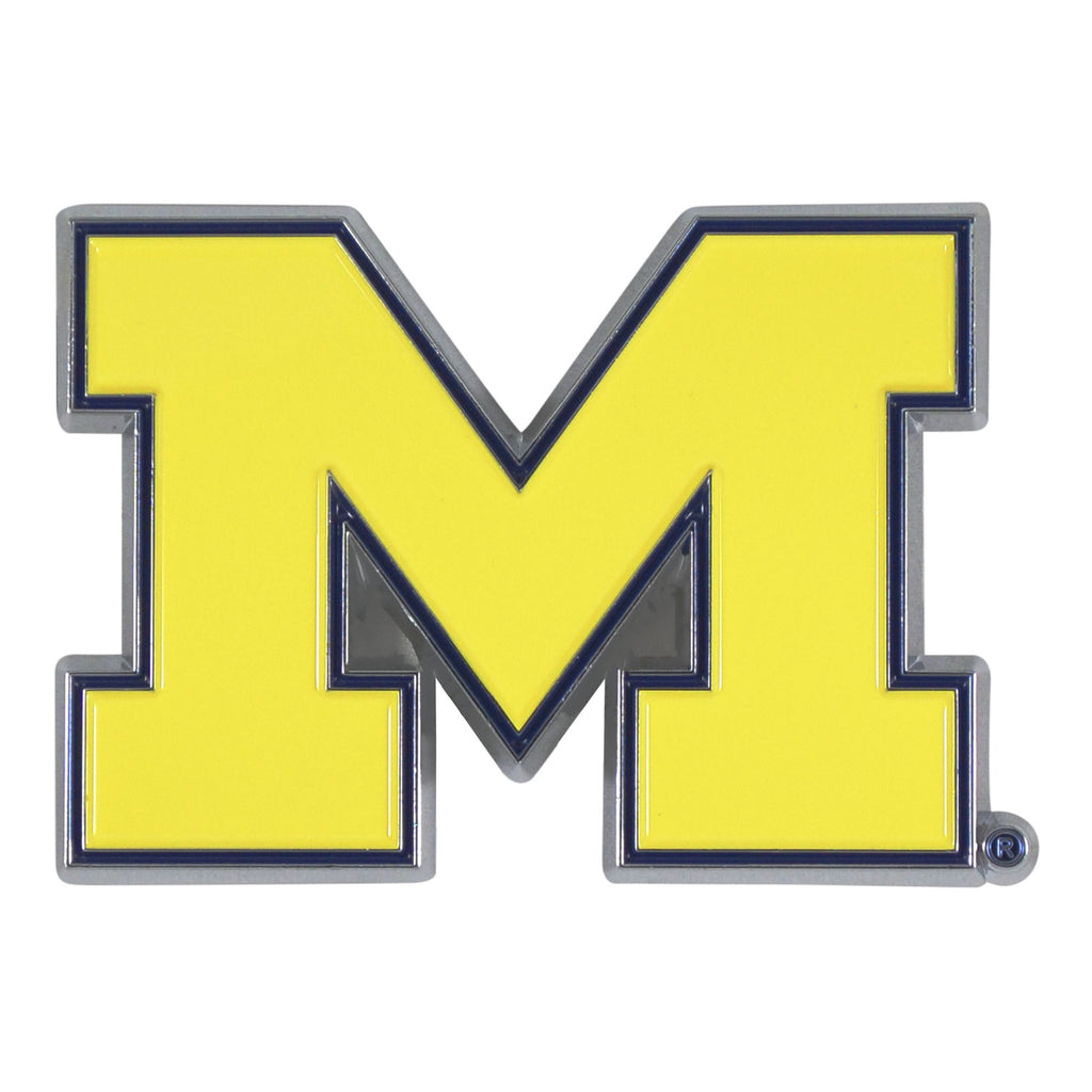 University of Michigan Wolverines Solid Metal Color Emblem