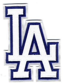 LA patch LA iron on patch Los Angeles Dodgers Embroidered patch