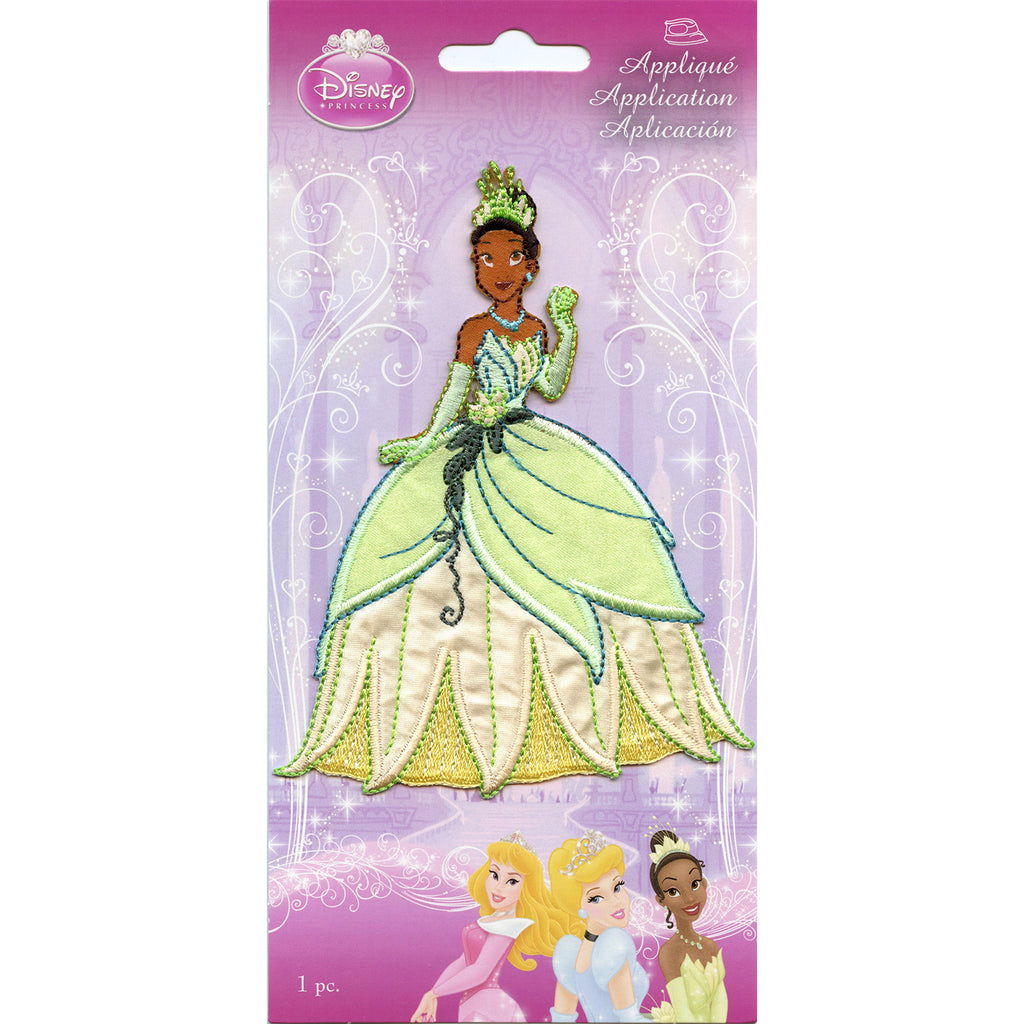 Disney Princess Tiana Full Body Iron on Embroidered Applique Patch