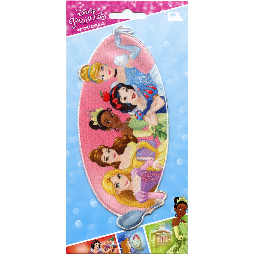 Disney Princess Full Group Iron on Embroidered Applique Patch