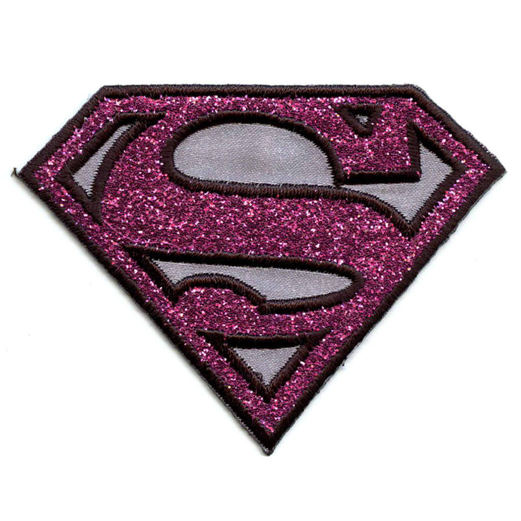 Dc Comics Supergirl Pink Shimmer Iron on Applique Patch