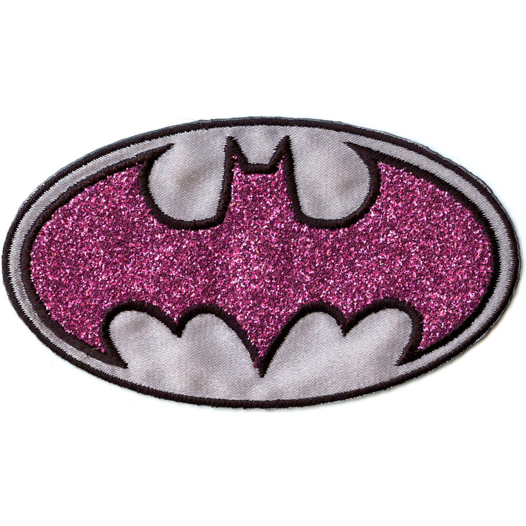 Dc Comics Batgirl Pink Shimmer Iron on Applique Patch