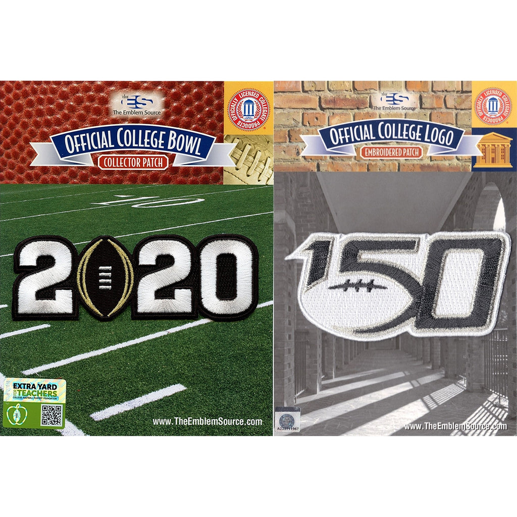 2020 College Playoff & College Football 150th Anniversary Jersey Patch LSU Clemson