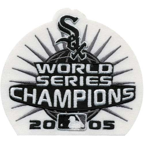 2005 Chicago White Sox MLB World Series Champions Jersey Patch Black & White