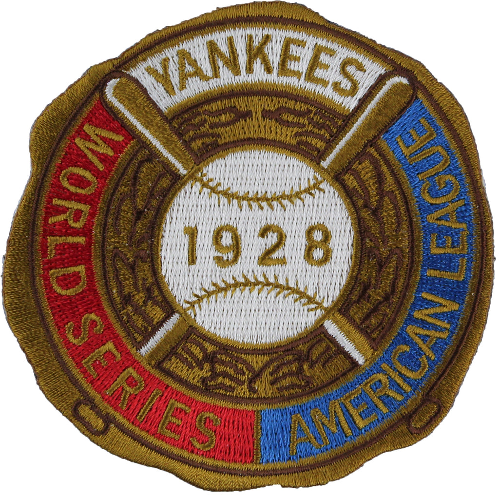 1928 New York Yankees MLB World Series Champions Jersey Logo Patch
