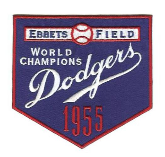 1955 Brooklyn Dodgers MLB World Series Jersey Patch