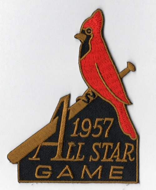 1957 MLB All Star Game St. Louis Cardinals Sportman's Park Jersey Patch