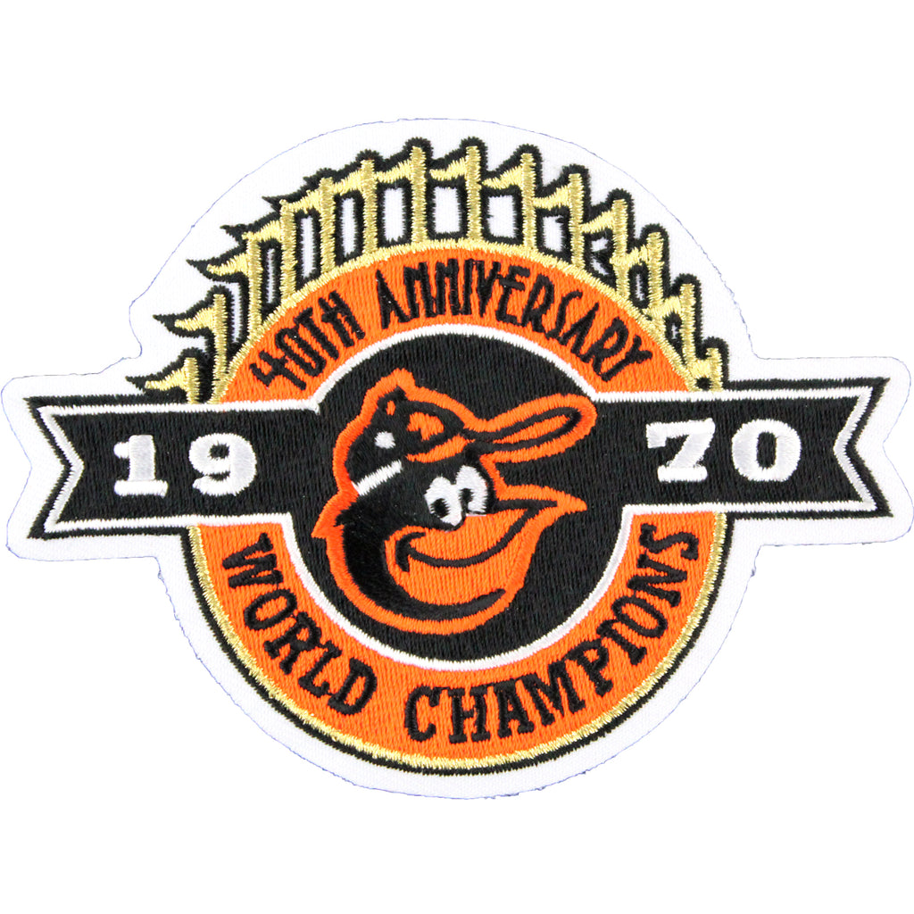 1970 World Champions 40th Anniversary Baltimore Orioles Jersey Patch