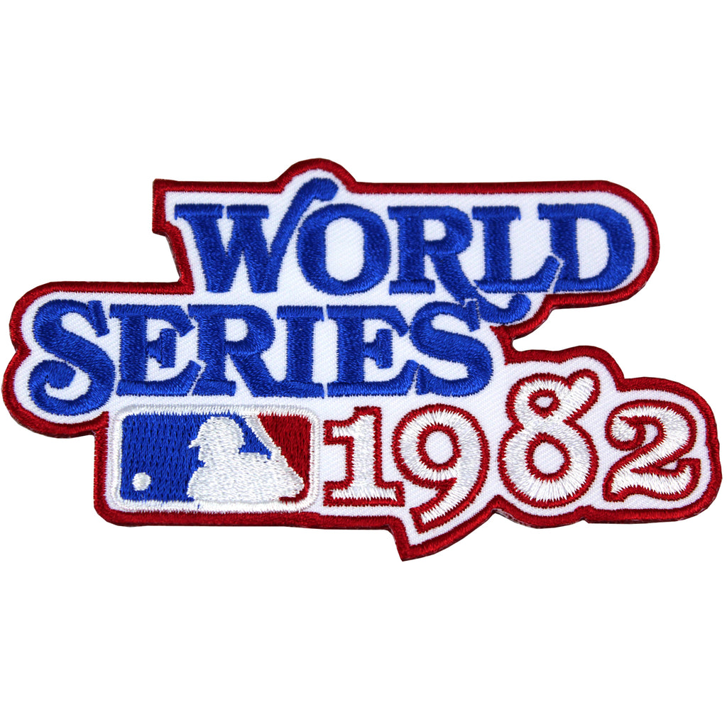 1982 MLB World Series Logo Jersey Patch St. Louis Cardinals vs. Milwaukee Brewers