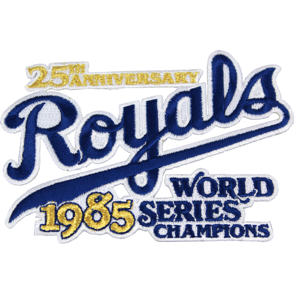 1985 MLB World Series Champions 25th Anniversary Kansas City Royals Jersey Patch