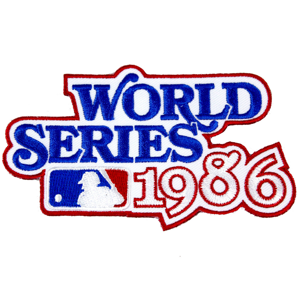 1986 MLB World Series Logo Jersey Patch New York Mets vs. Boston Red Sox