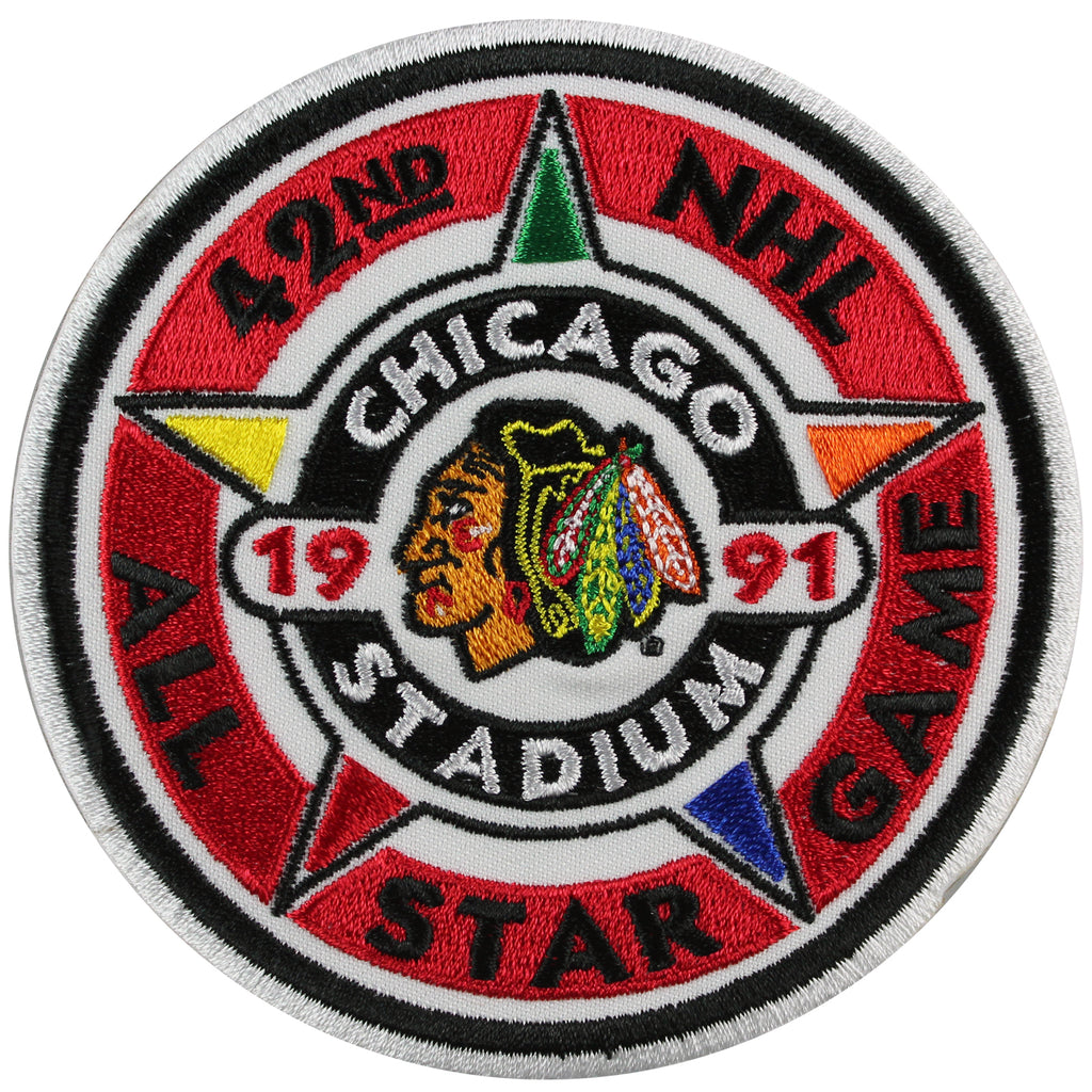 1991 NHL Hockey All Star Game Jersey Patch Chicago Blackhawks