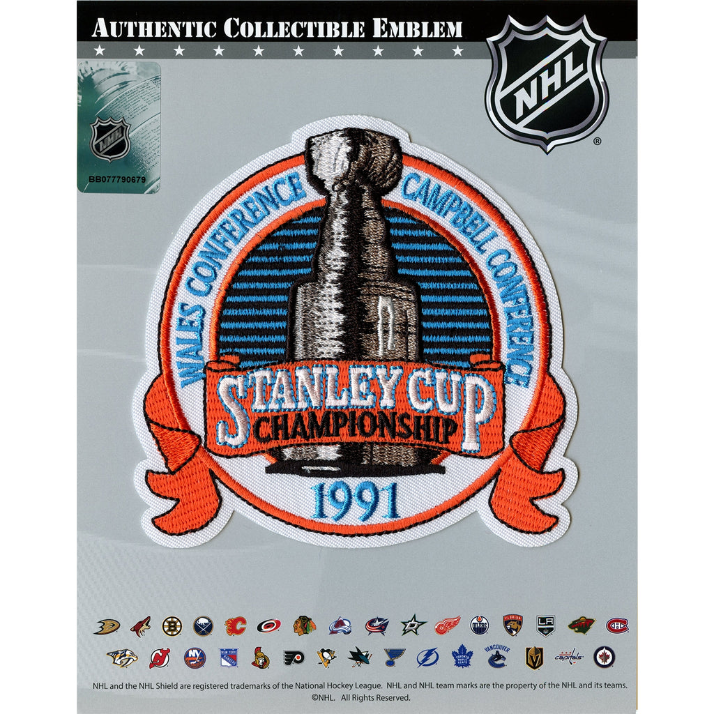1991 NHL Stanley Cup Final Championship Jersey Patch Pittsburgh Penguins vs. Minnesota North Stars