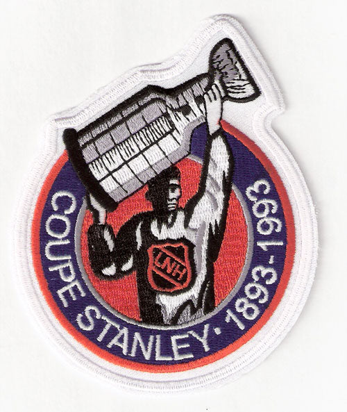 1993 NHL Stanley Cup 100th Anniversary Jersey Patch (French Version)