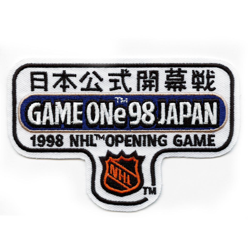 1998 NHL Game One in Japan Patch Opening Game San Jose Sharks Calgary Flames