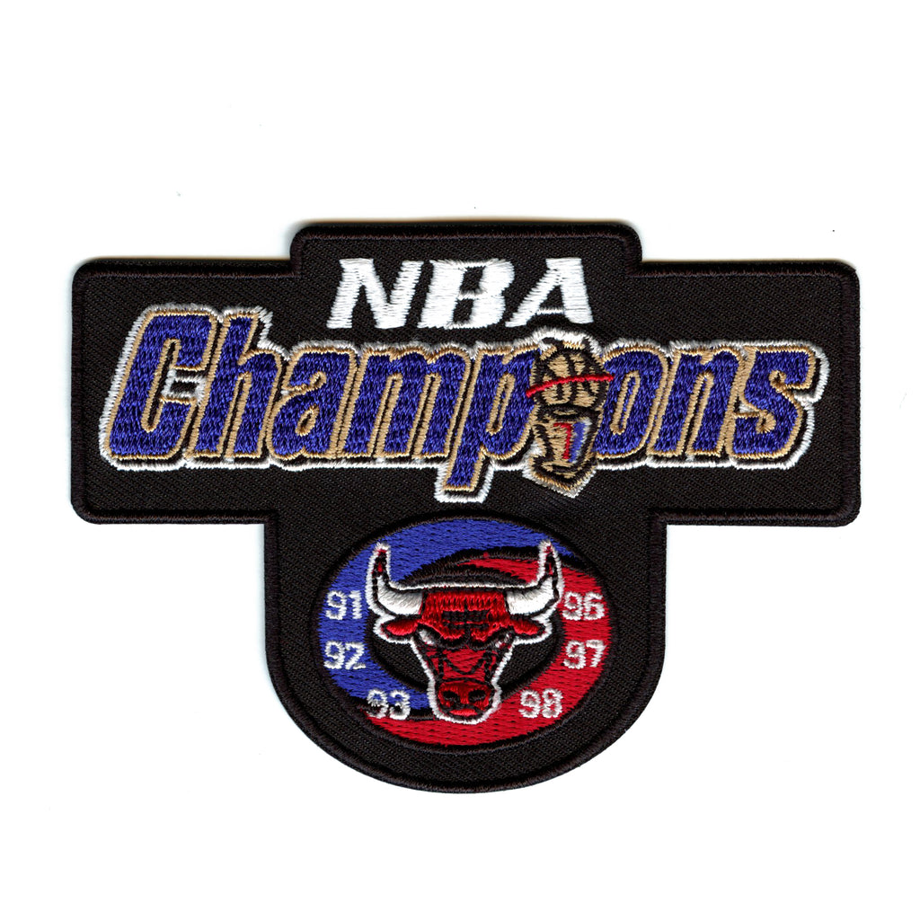 1998 Chicago Bulls NBA World Champions Embroidered Retro Patch