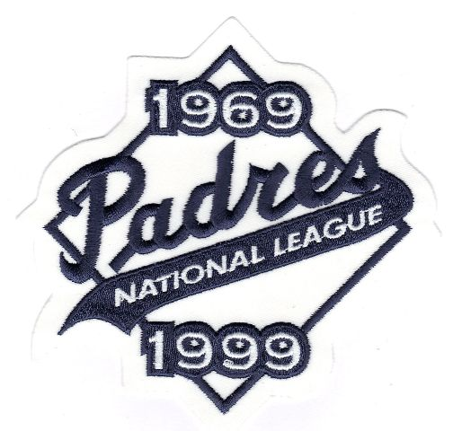 1999 San Diego Padres 30th Anniversary Jersey Patch