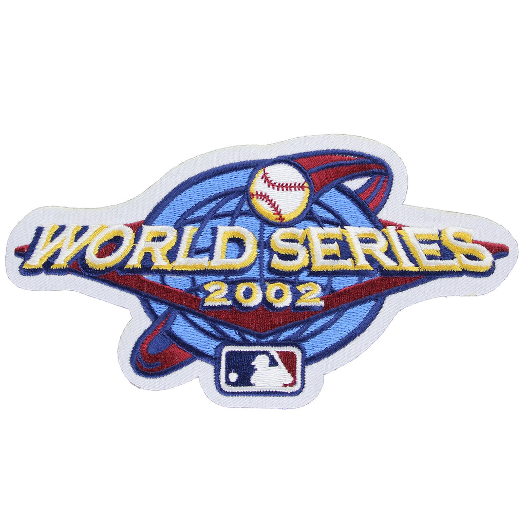 2002 MLB World Series Logo Jersey Patch San Francisco Giants vs. Anaheim Angels