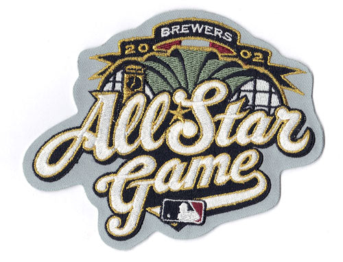 2002 MLB All Star Game Jersey Sleeve Patch Milwaukee Brewers (Gray Version)