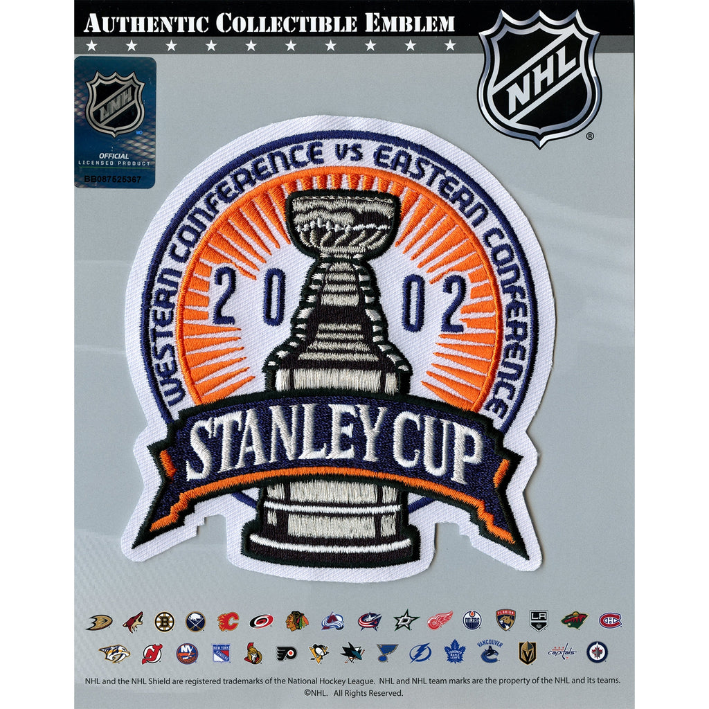 2002 NHL Stanley Cup Finals Jersey Patch Red Wings vs. Carolina Hurricanes