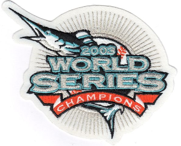 2003 Florida Marlins MLB World Series Champions White Version Jersey Patch