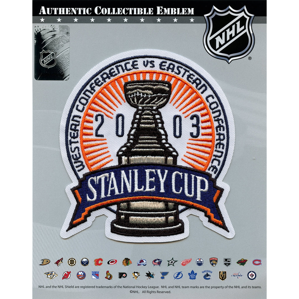 2003 NHL Stanley Cup Jersey Patch Anaheim Ducks vs. New Jersey Devils