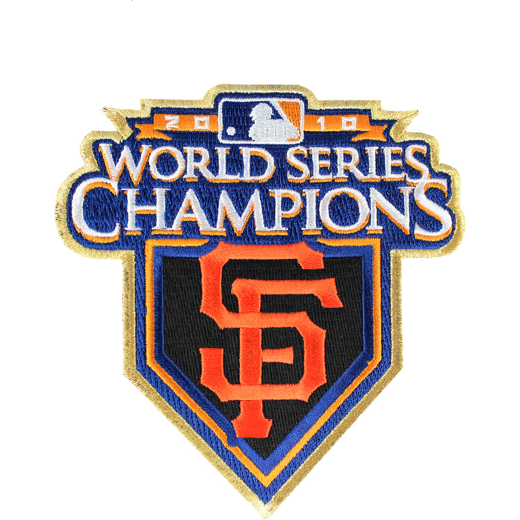 2010 San Francisco Giants MLB World Series Champions Ring Ceremony Jersey Patch (Gold Border)