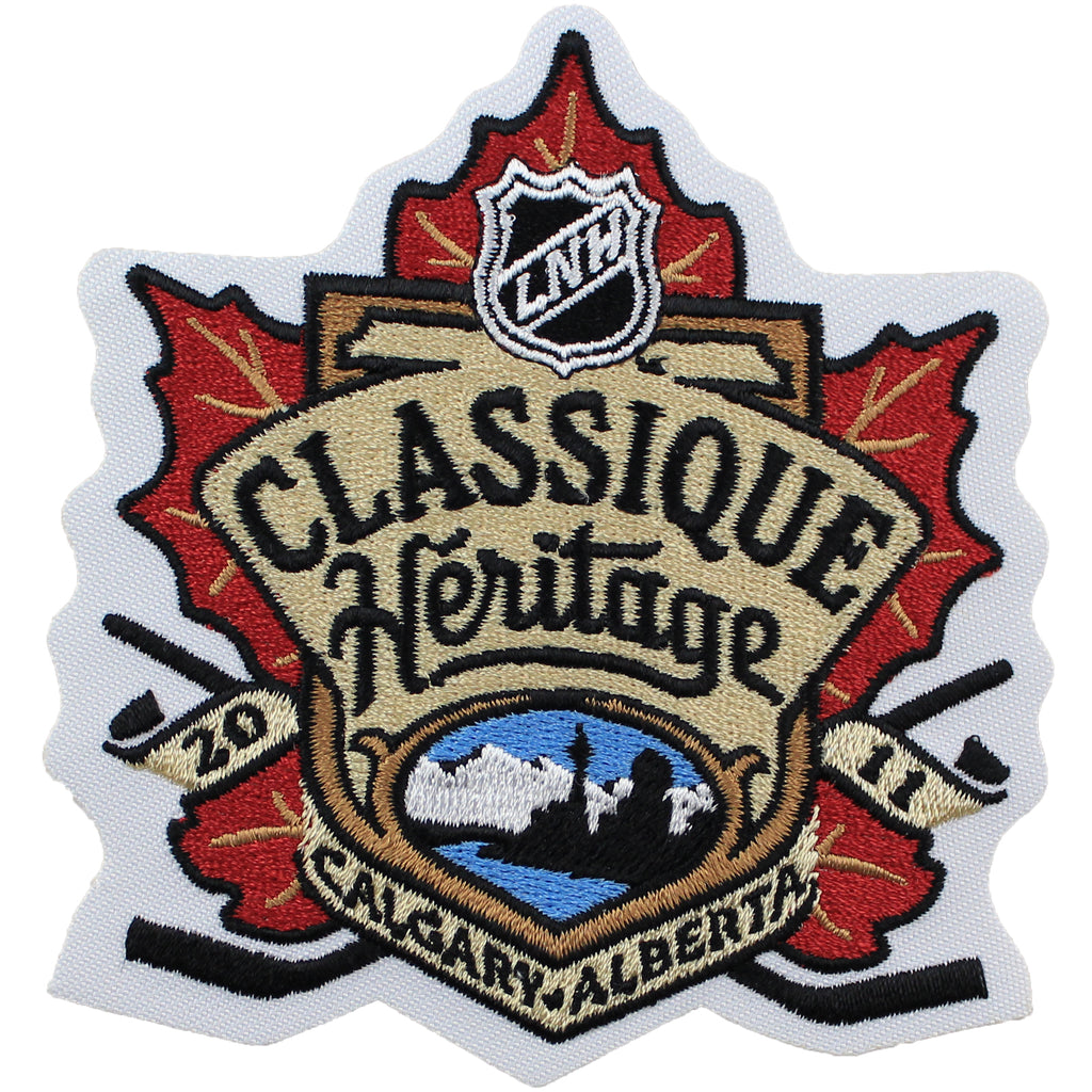 2011 NHL Heritage Classic Game Logo Patch French Version (Calgary Flames vs. Montreal Canadiens)