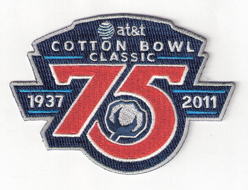 2011 AT&T Cotton Bowl Classic 75th Anniversary Game Patch (LSU vs. Texas AM)