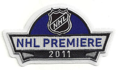 2011 NHL Premiere Opening Game Jersey Patch Anaheim Ducks New York Rangers