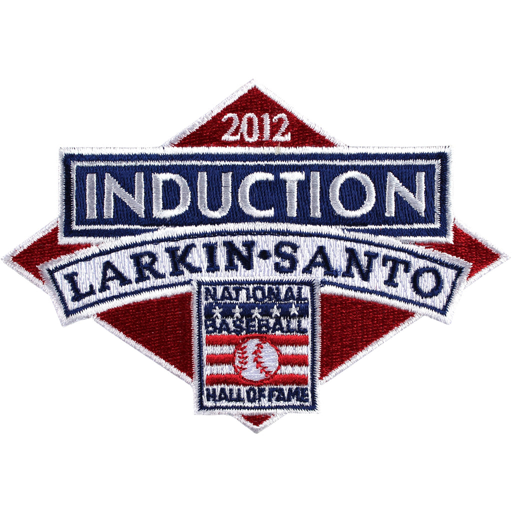 2012 National Baseball Hall Of Fame Induction Patch (Larkin, Santo)
