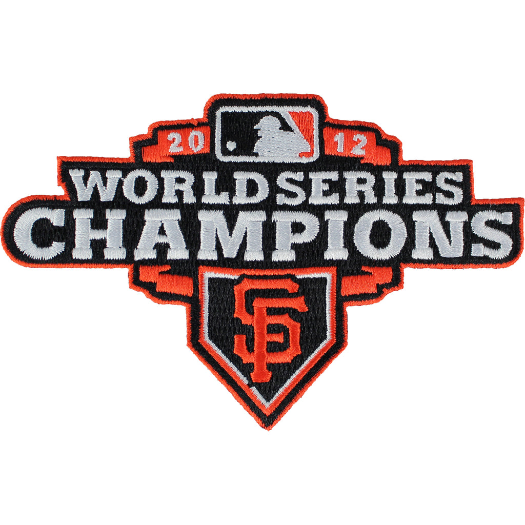 2012 San Francisco Giants MLB World Series Champions Jersey Sleeve Patch (Orange Border)