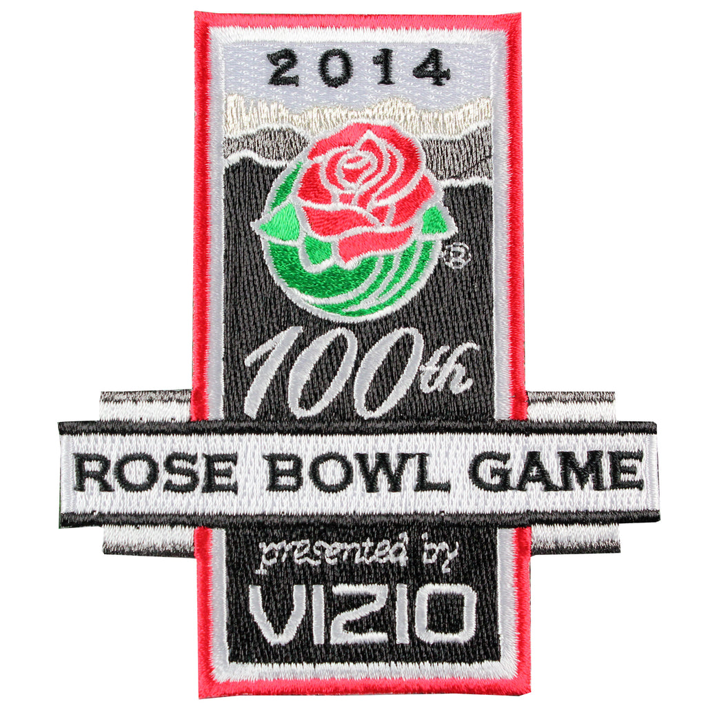 2014 Vizio Rose Bowl Game in Pasadena Jersey Patch 100th Anniversary (Stanford vs. Michigan State)