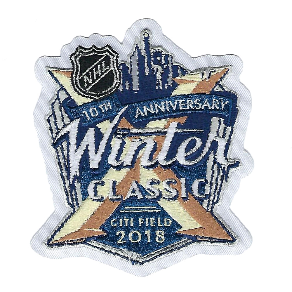 2018 NHL Winter Classic Jersey Patch New York Rangers (10th Anniversary)