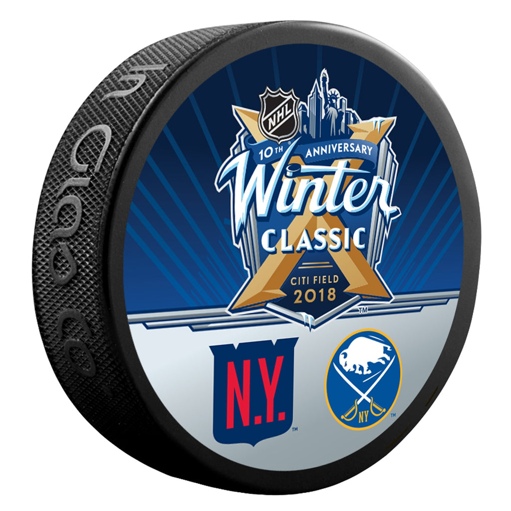 2018 NHL Winter Classic Dueling Collectors Puck (Rangers vs. Sabres)