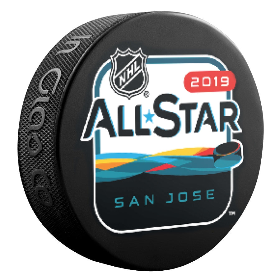 Official 2019 NHL All Star Game Weekend Basic Souvenir Puck San Jose Sharks