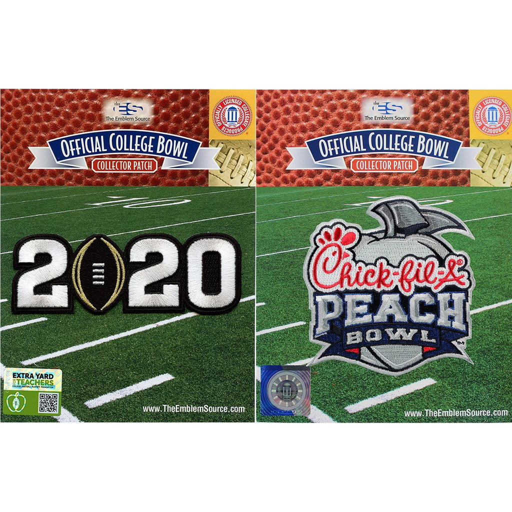 2020 College Playoff Jersey Patch & Chick-Fil-A Peach Bowl Patch Oklahoma LSU