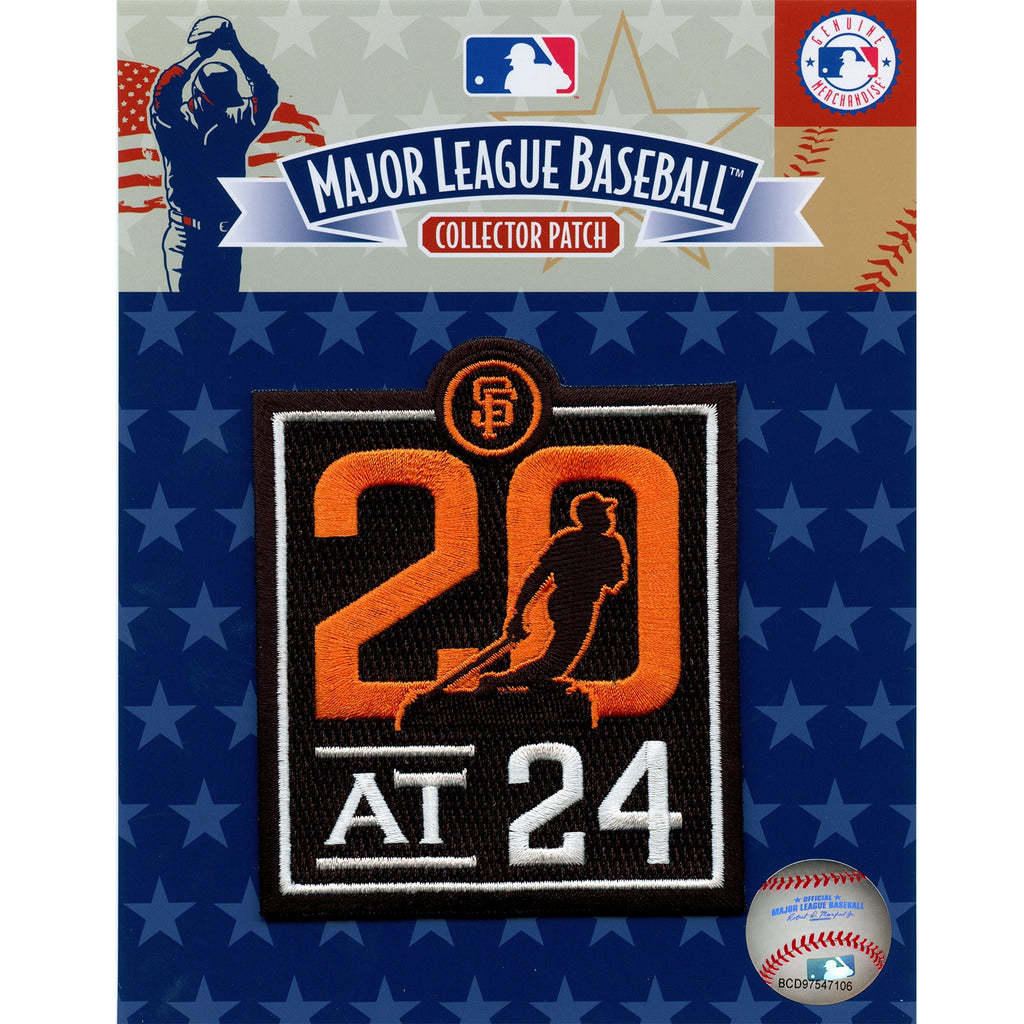 2020 San Francisco Giants 20 at 24 Commemorative Jersey Patch