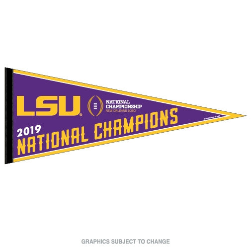 2019 College National Champions LSU Tigers Football Classic Pennant